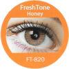 freshtone blends honey colored contact lenses