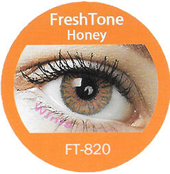 freshtone blends honey colored contact lenses