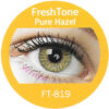 Freshtone blends pure hazel colored contact lenses