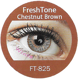 freshtone blends chestnut brown colored contact lenses