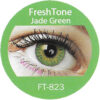freshtone blends jade green colored contact lenses