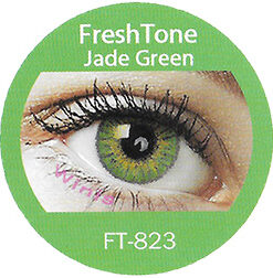 freshtone blends jade green colored contact lenses