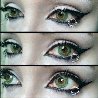 freshtone blends gemstone green colored contact lenses