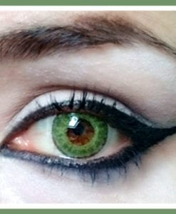 freshtone blends gemstone green colored contact lenses
