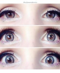 Gray contact lenses