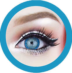 nabi blue colored contact lenses, circle lenses,korean lenses by eos