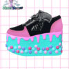 candyholic yru platforms handpainted by pastel-dreams nugoth kawaii pastel goth harajuku iron fist creatures of the night