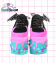 candyholic platforms handpainted by pastel-dreams nugoth kawaii pastel goth harajuku iron fist creatures of the night