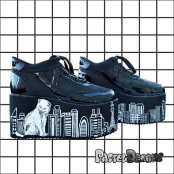 761833940e57 Hand painted demonia sailor moon inspired platform trainers. sailor uranus  - pluto yru sailor moon ...