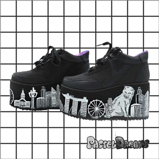 catzilla yru platforms handpainted by pastel-dreams nugoth kawaii