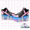 my little pony retro yru rarity platform trainer shoes on galaxy backgrouns handpainted by pastel-dreams nugoth kawaii harajuku