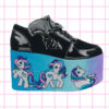 iron fist creatures of the night platform flatform trainers my little pony retro hand painted in ombre pastel colors nugoth kawaii harajuku