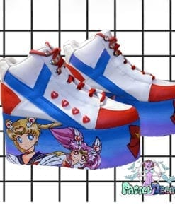 yru sailor moon hand painted platform trainers shoes kawaii cute pastel harajuku anime