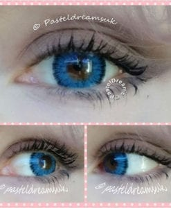 eclipse sm blue circle lenses by icodi, dolly eyes, big eyes, colored contact lenses