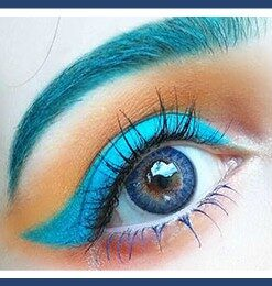 GEO MAGIC COLOR CM-9 blue colored contact lenses 3tone, Circle lenses dolly eyes, big eyes