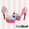 hand crafted custom made icecream cupcake heels by pastel-dreams kawaii cute sweet pink harajuku