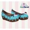 drippy flatform blue choco pastel dreams shoes chocolate sweet cake ice cream kawaii harajuku cherry