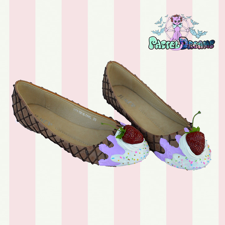 46f54bf9e5678 Drippy Ice cream Flats