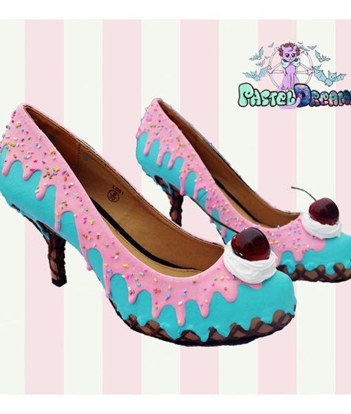 ice cream cupcake cake custom shoes pastel goth kawaii cute sugar sweet harajuku candy