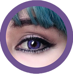 eclipse sm violet circle lenses by icodi, dolly eyes, big eyes, colored contact lenses