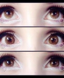 Brown Giselle circle contact lenses