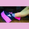 rose pink rosa eden platform trainer shoes handpainted by pastel-dreams nugoth kawaii