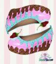 pink turquoise flatform shoes icecream cake heels