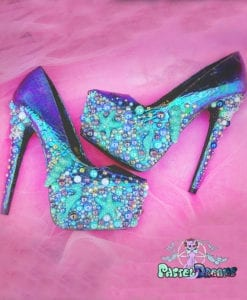 sirens high heels made by pastel-dreams, custom made handmade mermaid fantasy