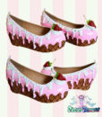 strawberry-vanilla icecream flatforms cake shoes