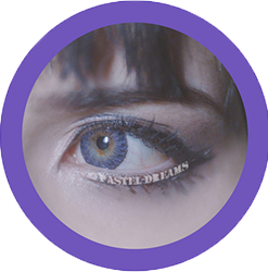freshtone Vibrant amethyst violet colored contact lenses 3 tone natural