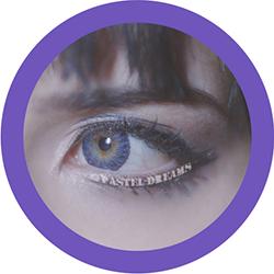 freshtone Vibrant amethyst violet colored contact lenses 3 tone natural