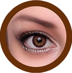 freshtone vibrant brown cosmetic contact lenses, circle lenses, colored contacts