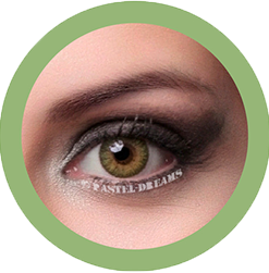 freshtone vibrant green cosmetic contact lenses, circle lenses, colored contacts