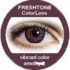 freshtone vibrant amethyst cosmetic colored contact lenses