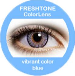 freshtone vibrant blue cosmetic colored contact lenses