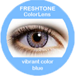 freshtone vibrant blue cosmetic colored contact lenses