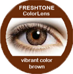 freshtone vibrant brown cosmetic colored contact lenses