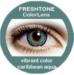 Freshtone vibrant caribbean aqua colored contact lenses