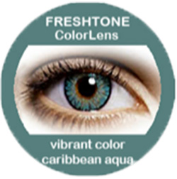 Freshtone vibrant caribbean aqua colored contact lenses