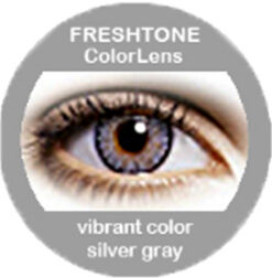 freshtone vibrant silver gray cosmetic colored contact lenses