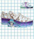 miku hatsune anime sandals white puprle blue cute kawaii japan pastel goth
