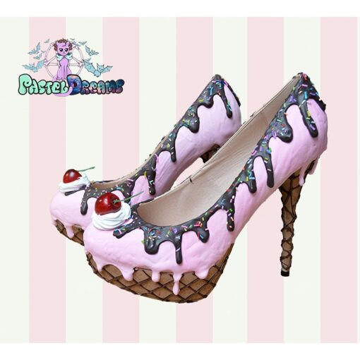 pink strawberry custom handmade by pastel dreams pastel goth candy ice cream kawaii cute sweet cherry