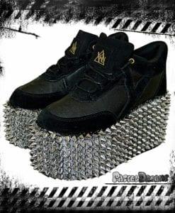 stud blast yru shoes platform trainers black goth pastel nugoth kawaii harajuku metal