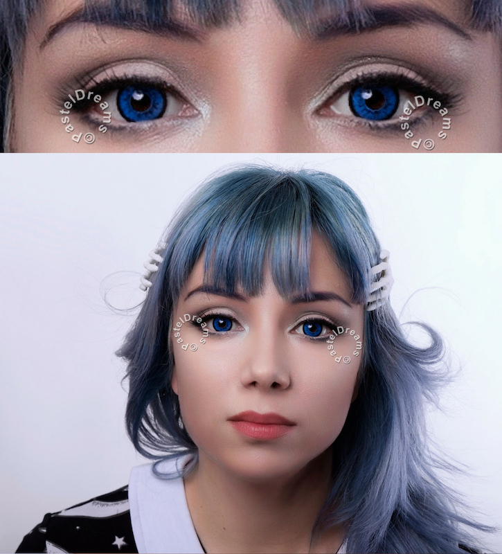 dolly blue V-209LB colored contact lenses by eos circle lenses big eyes dolly eyes