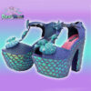 mermaid heels handmade pastel dreams sweet blue ocean kawaii cute harajuku