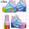 eessex glam princess serenity white shoes platforms flatform kawaii pastel goth harajuku cute
