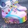 essex glam usagi- chibi moon sailor moon white shoes platforms flatform kawaii pastel goth harajuku cute
