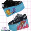 Cardcaptor Sakura hand painted sandals chunky heel platform trainers kawaii anime fairykei