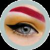 EOS New Adult 203 gray contact lenses, circle lenses,dolly eyes,cosplay, theatrical lenses, kawaii
