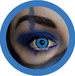 blue manson colored contact lenses, halloween lenses, crazy lenses, red contacts, vampire eyes,theatrical lenses